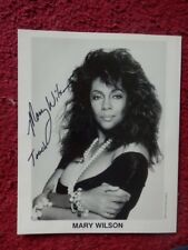 MARY WILSON  'THE SUPREMES'   AUTOGRAPHED PHOTO + COA