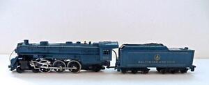 NICE HO Mantua Baltimore & Ohio Diecast ROYAL BLUE 4-6-2 Steam Loco/Tender (70EX