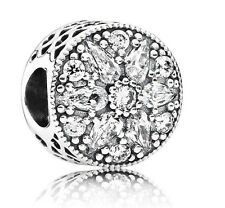 Authentic Pandora Sterling Silver Radiant bloom Crystal Charm 791762CZ