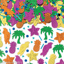 2 Bags Tropical Island Luau Party Foil Embossed Foil Confetti Table Sprinkles