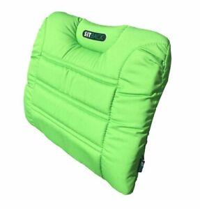 SITBACK AIR Fahrzeug Rückenkissen mit aufblasbarem Luftkissen Stoff apfel grün