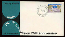 Norfolk Island 1972 South Pacific Commission FDC First Day Cover #C13917