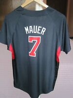 JOE MAUER MINNESOTA TWINS  MLB MAJESTIC AUTHENTIC COOL BASE JERSEY YOUTH SIZE L