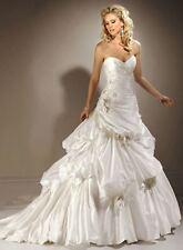 MAGGIE SOTTERO $1899 PRESTYN NEW 20 IVORY TAFFETA LACE BALL GOWN WEDDING DRESS