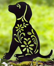 Puppy Silhouette Stake for Yards, Gardens - Outdoor Shadow Decoration