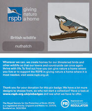 RSPB Pin Badge | Nuthatch | GNaH backing card [01170]