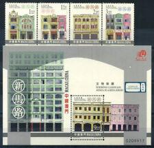 Macao 2000 Mi. 1072-1075 Bl.76 Nuovo ** 100% Monumenti culturali