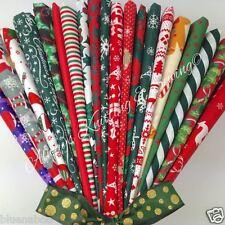20 POLIALGODÓN FAT QUARTERS Lucky Dip mezclado Telas De Navidad Santa Holly, etc.