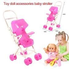 Plastic Baby Kids Reborn Doll Toy Carriage Stroller Accessory Storage Toddler M