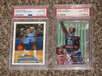 Carmelo Anthony 2003 Topps RC + Kevin Garnett Fleer Ultra 1995 PSA 8 HOF Lot