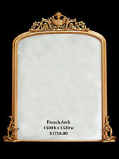 French Arch Top Mantle Mirror