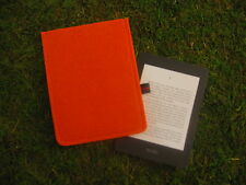Kindle paperwhite 2014 ebook Reader Hülle Tasche Case Filz orange -  NEU Unikat