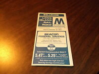 DECEMBER 1973 LIRR BELLMORE, NY PUBLIC TIMETABLE