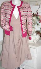 Noa noa chaqueta de punto Cardigan Motif Knit Wine size: XS nuevo