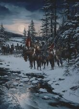 """Snow Moon"" John Paul Strain Executive Canvas Giclee - Nathan Bedford Forrest"