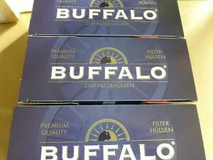Buffalo King Size Hülsen 20 x 200=4000 Zigarettenhülsen zum Toppreis