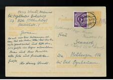 1946 Hude Germany PS Card cover w additional postage