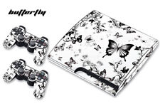 Skin Decal Wrap For PS3 Slim PlayStation 3  Console + Controller Blossom Butrfly