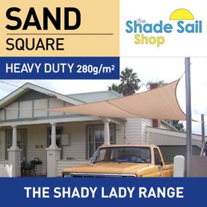 Square SAND 3.6m x 3.6m Shade Sail Sun Heavy Duty 280GSM Outdoor BEIGE 3.6 x 3.6