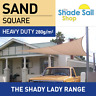 Square SAND 2m x 2m Shade Sail Sun Heavy Duty 280GSM Outdoor BEIGE 2  x 2 M