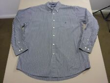 058 MENS NWOT NAUTICA WHITE / CHAR STRIPED L/S SHIRT SZE XL $110 RRP.