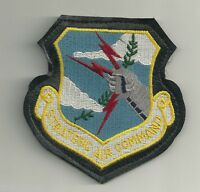 "AIR FORCE ISSUE LEATHER 4"" STRATEGIC AIR COMMAND EMBROIDERED PATCH"