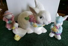 Ceramic Mother Goose With Baby Figurine by Russ plus 3 other Easter items. Euc