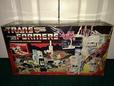 Metroplex G1 Transformers Hasbro 1985 USED GREAT CONDITION Box Instruction Decal