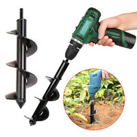 Garden Auger Spiral Drill Bit Planter Digging depths electric drill ground drill