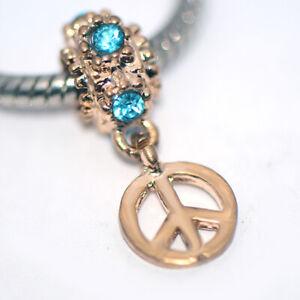 Gold Drop Dangle Bead Spacer Charm Fit Eupropean Chain Bracelet Making Jewelry