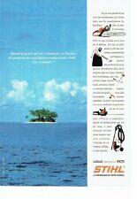 PUBLICITE ADVERTISING 126  1995  Stihl  outillage taille haie  nettoyeur jardin