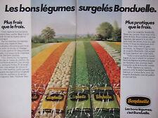 PUBLICITÉ 1978 BONDUELLE LES BONS LÉGUMES SURGELÉS - ADVERTISING