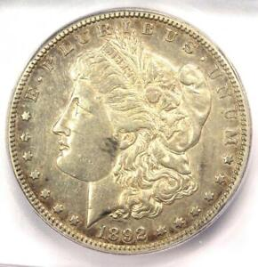 1892-S Morgan Silver Dollar $1 - ICG AU50 - Rare Date in AU50 - $1,680 Value