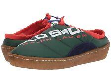 Polo Sport Myles Puffer Shoes Ralph Lauren Men's Size 7 Green Orange