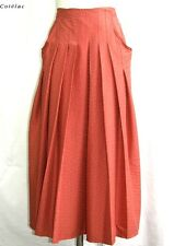 COTELAC - LONG SKIRT PLEATED COTTON RED SIZE 1 = 36 - MINT