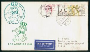 MayfairStamps Germany Los Angeles Mascot 1984 Cover wwp62227