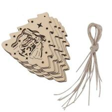 10pcs Laser Cut the Birth of Jesus Wooden Tags Embellishment Craft w/ String