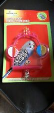 NEW IN PACKET...BIRD TOY...BUDGIE...CANARY...SWING PERCH..LOVELY COLOUR..TOY...