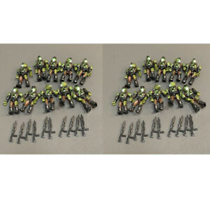 Lot 20 Mega Bloks Construx Halo UNSC SPARTAN MASTER CHIEF Figures toys & Gun T1