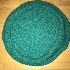 Handmade Crochet Round Cat Bed Green Set Of 2