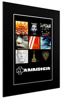 MOUNTED / FRAMED PRINT RAMMSTEIN DISCOGRAPHY - 3 SIZES POSTER GIFT ARTWORK