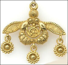 Minoan Bee Pendant with Chain-24k Gold-plated Greek Style Necklace-Made in USA
