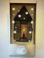 COUNTRY PRIMITIVE TIN CANDLE LANTERN NIGHT LIGHT