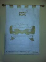 Affiche KAKEMONO publicitaire - stylos MONT-BLANC - 75 ans MEISTERSTUCK - Taches