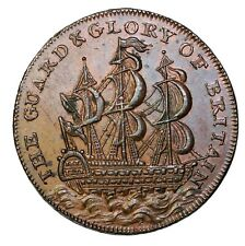 Westmorland Kendal Sailing Ship Lutwyche's Mule Halfpenny Conder Token D&H-5a