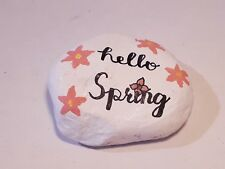 Handmade collectibles decor stone paperweight, low-price gift, hello spring