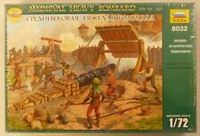 1/72 Medieval Diorama Bombard 14th-15th Century AD Cannon Walls Figures 8032