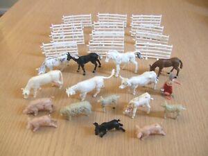 F G Taylor & Cherilea farm animals & fencing lot