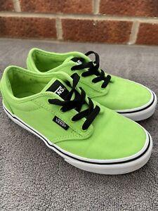 Boys Green Vans Uk Size 1.5