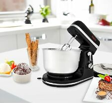 Stand Mixer Electric 6Speed 3.5L Bowl & Beaters & Dough Hooks Body Steel Black